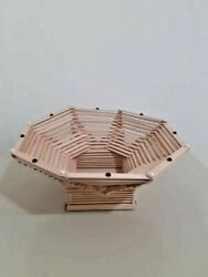 Handmade Wooden Fruit Baskets Made By Popsicle Sticks