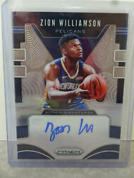 2019-20 Panini Prizm Rs-zwl Zion Williamson New Orleans Pelicans Auto Base Card
