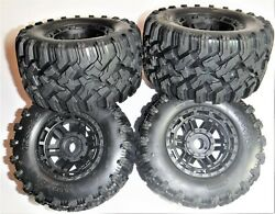 Traxxas Maxx 1/10 Front And Rear Tires / Wheels 4