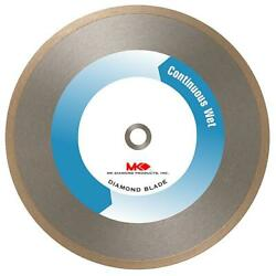 Mk Diamond Saw Blade Super Hi Rim Tile Marble Continuous Wet Dry Cutting 10 In