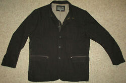 Johnston And Murphy Coat Barn And Field Jacket Flannel Lined Herringbone Canvas 2xl