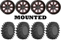 Kit 4 Sti Outback Max Tires 35x9-20 On System 3 St-4 Red Wheels Ter