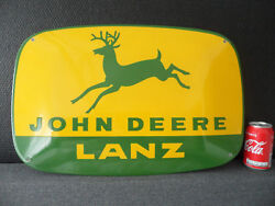 John Deere Lanz - Tractor Advertising - European Quality Porcelain Emaille Sign