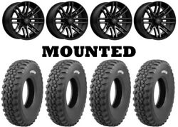 Kit 4 Tensor Ds32 Hard Tires 32x10-15 On Msa M40 Rogue Machined Wheels Can