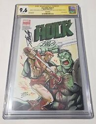 Incredible Hulk 1 Cgc 9.6 Ss Sketch By Ozzy Signed By Liam Mcintyre And Stan Lee