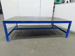 1/2 Thick Top Steel Fabrication Welding Layout Table Work Bench 120lx73wx37h