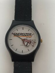 Quarts Energizer Bunny Watch, Ticks Great, Rabbit Marches Around The Face In 2nd