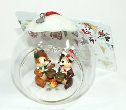 Disney Sketchbook Ornament Christmas Holiday Chip And Dale Roasting Acorns Nwt