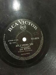 Jim Reeves Am I Losing You/heand039ll Have To Go Rca Victor Rare 78 Record India Vg+