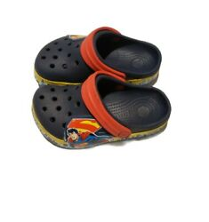 Crocs Spiderman Boys Water Blue Sandals size 8 9