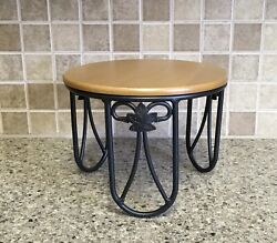 "Longaberger Wrought Iron PLATE STAND Riser Server amp; Woodcrafts Shelf 6"" Tall"