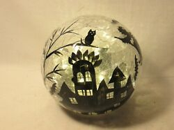 Lighted Fairy Lights Halloween Glass Orb Ball Great With Byers Choice