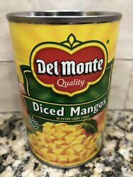 4 Cans Del Monte Diced Mangos In Light Syrup 15 Oz Can Juice