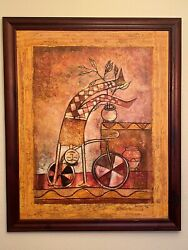 Original Robinson Roque Wall Art Canvas Painting 40andrdquox50andrdquo With Wooden Frame