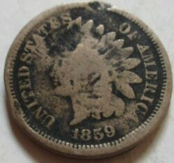 1859 United States Indian Head Large Cent Coin Rj66