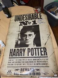 Daniel Radcliffe Signed Harry Potter Undesirable No 1 Poster Jsa