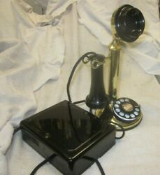 Western Electric Brass Dial Candlestick Telephone e w 684 A Subset.