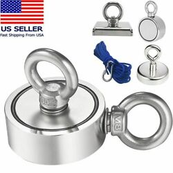 150-800lb Fishing Magnet Kit Strong Neodymium Pull Force Treasure Hunt And Rope