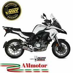 Mivv Benelli Trk 502 2020 Exhaust Motorcycle Oval Titanium Carbon Cap Approved