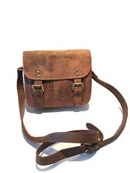 Nubuck leather satchel purse. $25.00
