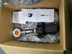 Schubert And Salzer Type 8021 2.5 C-steel Sliding Gate Control Valve And Positioner