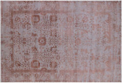 6' 2 X 9' 2 Wool And Silk Hand Knotted Rug - Q6297