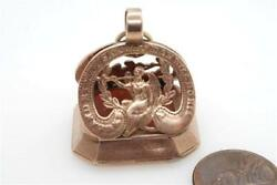 Antique English Gold Lion Crest Seal Fob C1805 England Expects Nelson Trafalgar