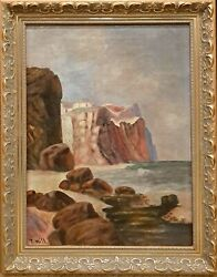 Thomas Hill 1829-1908 - Northern California Seascape - Oil Painting On Canvas