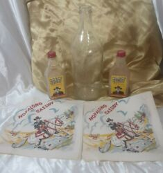 Hopalong Cassidy Grape Juice Glass Bottle Hair Trainer And Napkins