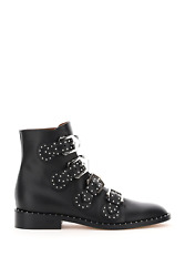 New Givenchy Elegant Studded Ankle Boots Be08143004 Black Authentic Nwt