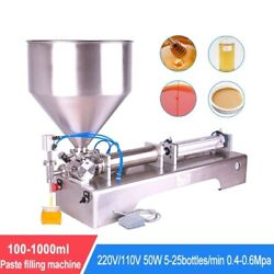 Filling Machine Pneumatic Single Head Paste Liquid Shampoo Cosmetic Toothpaste