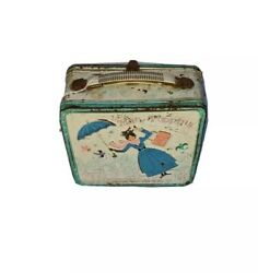 Vintage 1965 Aladdin Industries Mary Poppins Metal Lunch Box Pre Owned Rusted