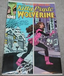 Vintage 1984 Kitty Pryde And Wolverine 1 Signed By Al Milgrom