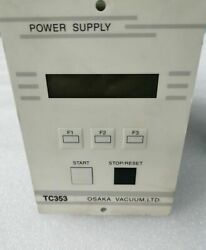 Used Osaka Tg350fvab Turbo Pump+tc353 Controller+cable Working With 30 Days War
