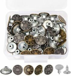 50 Set Replacement Button Pins for Jeans Jean Button No Sew Instant Pants Button $6.12