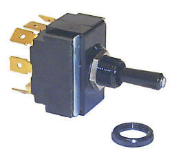 New Tip Lit Toggle Switch Sierra Tg19520 On/off/on Terminals 8 Blade Dpdt