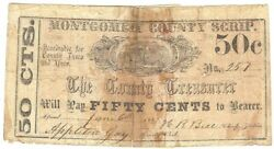 Texas C.s.a. State Montgomery County Montgomery M-02 50cts. June 6th1862 Vg Z
