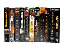 War Movies Lot Of 11 Vhs Tapes Thin Red Line Black Hawk Down Saving Private Ryan