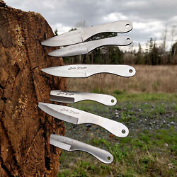 6 Pc Professional Jack Ripper Throwing Knife Set 440 Stainless Steel With Sheath