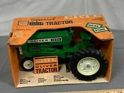 Oliver 1855 Tractor Narrow Front With No Fenders Nib Ertl 116 1970's Rare