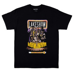 NEW Mitchell amp; Ness Los Angeles Lakers Lakeshow Vintage Black T Shirt Size S 3XL