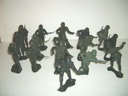 16 Mpc Us American Wwii Soldiers Of World Plastic 6 Army Figure Vintage Marx
