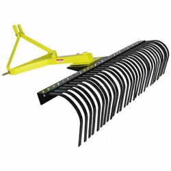 Titan Attachments 4 Ft Landscape Rake For Compact Tractors Tow-behind Garden To