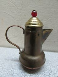 Vintage Miniature Doll House Copper Brass Teapot Toy Cookware