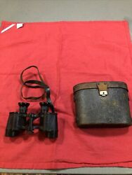 Rare Vintage Ww1 Binoculars Carl Zeiss Jena Df8x Early 1900andrsquos With Case