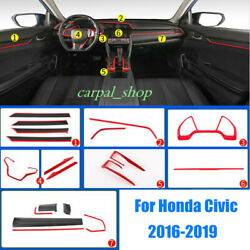 Fit For Honda Civic 2016-2019 Abs Interior Accessories Whole Kit Covers Trim Set