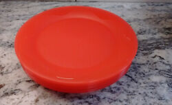 Tupperware Open House Round Plates Watermelon Red 8 Inch Salad Snack Set Of 7