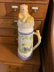 Vintage Beautiful Holland Mold Hand Painted Ceramic Stein With Free Shipping