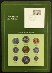 Coin Sets Of All Nations Republic Of Malta 1972-1982. Bu