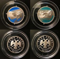 Russia 2 Silver Coins 1 Rouble 2012 The History Of Russian Aviation